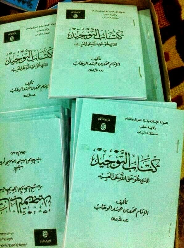 ISIS is spreading this pathetic book of Muhammad bin Abdul Wahab in Iraq to deceive people (1)