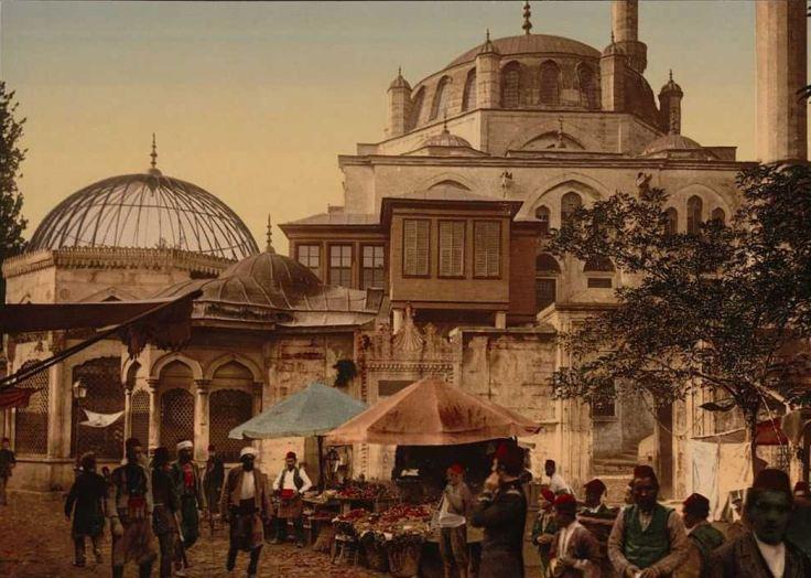 osmanli-carsi-pazar-insanlar-tablo-resim-saticilar