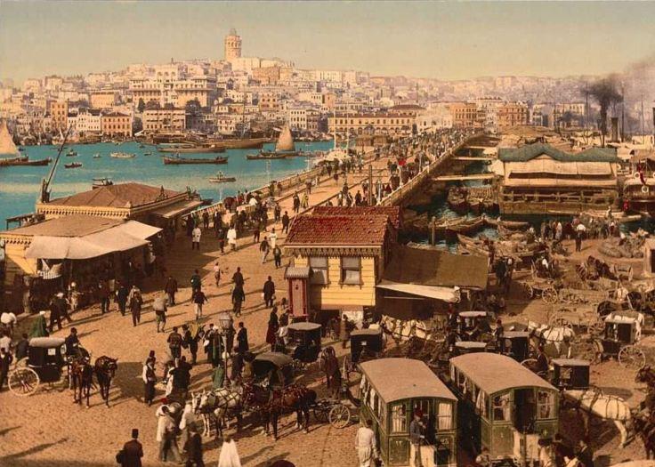 osmanli-galata-koprusu-tablo-kalablik-insanlar-manzara