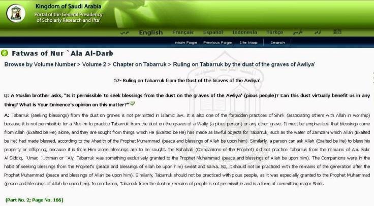 Saudi Fatwa on Tabarruk